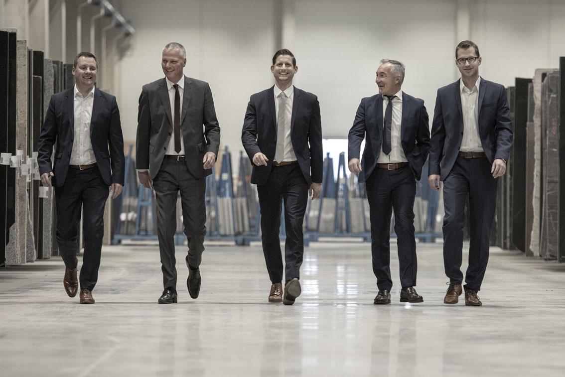 v.l.n.r. Christian Eichenberg, Jeffry van de Vijver, Daniel Griehl, Volker Walter, Florian Abenthum