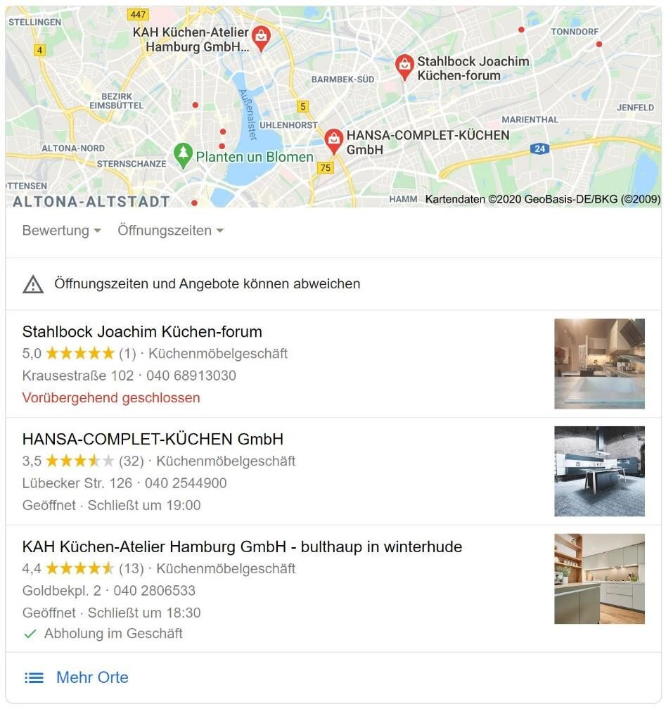 Google My Business Local Pack