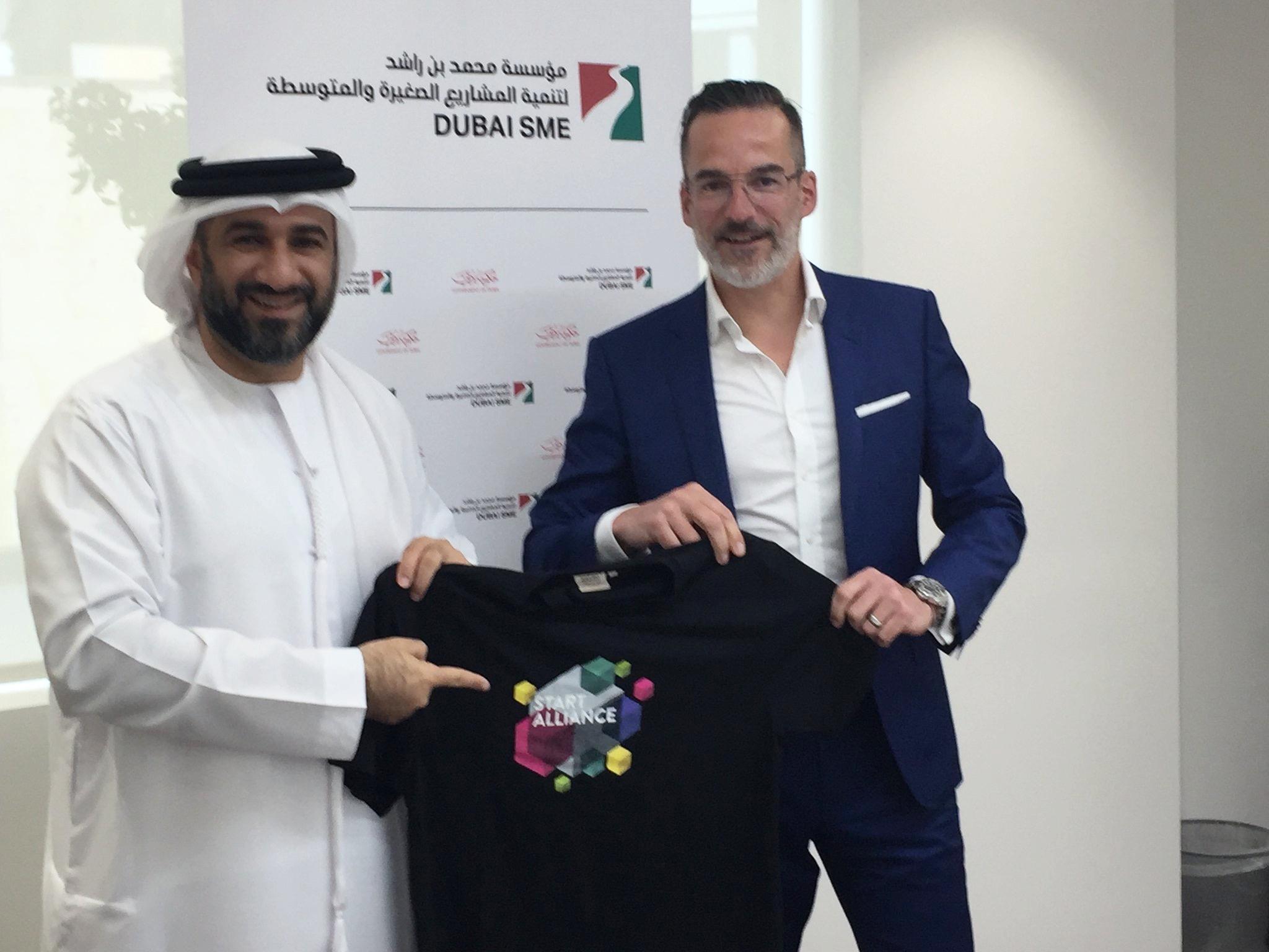 Abdul Basset Al Janahi (CEO, Dubai SME) and Dr. Stefan Franzke (CEO, Berlin Partner)