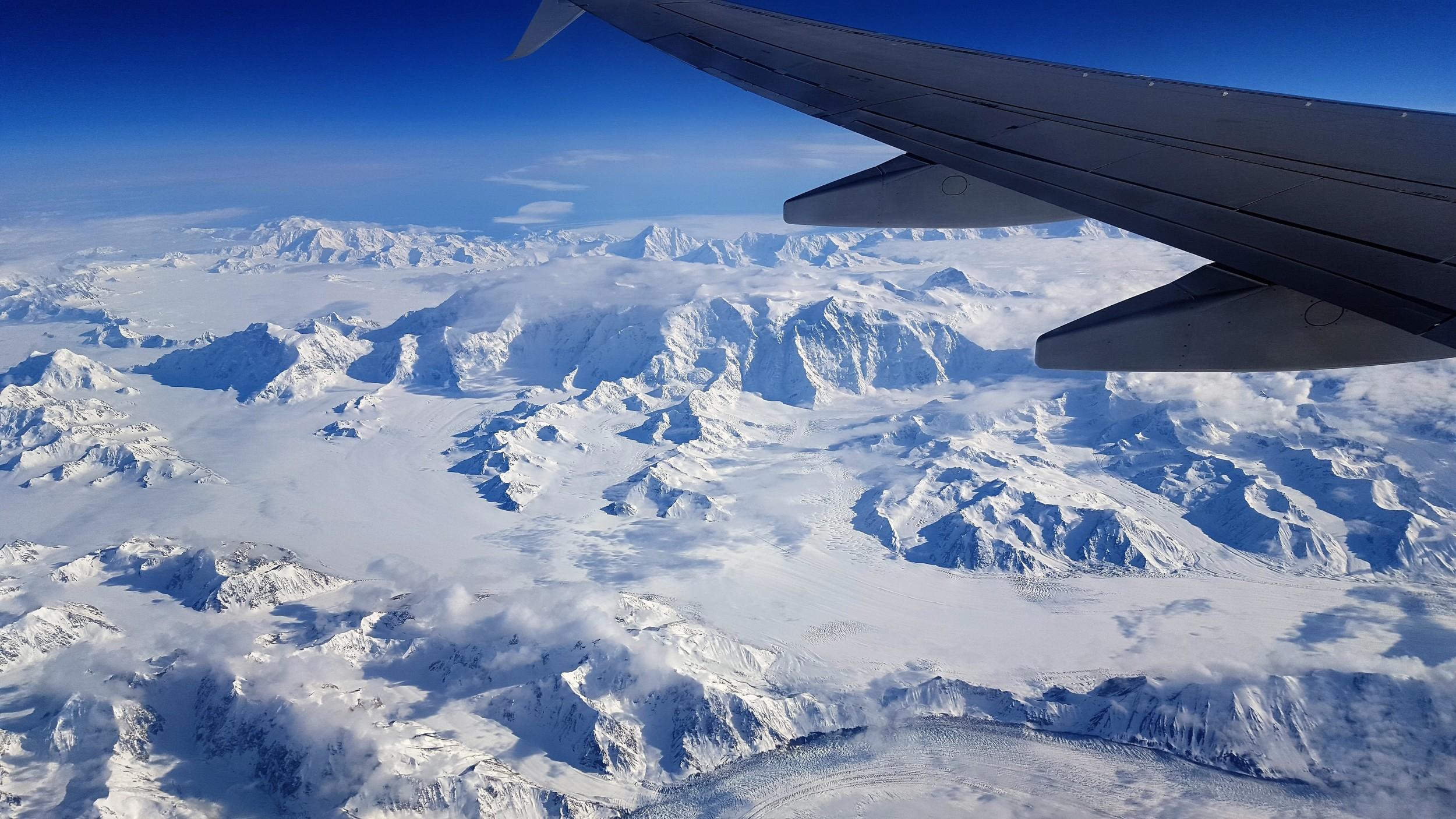 Mt. Logan:Highest peak in Canada situated in Yukon Territory, bordering Alaska and Canada