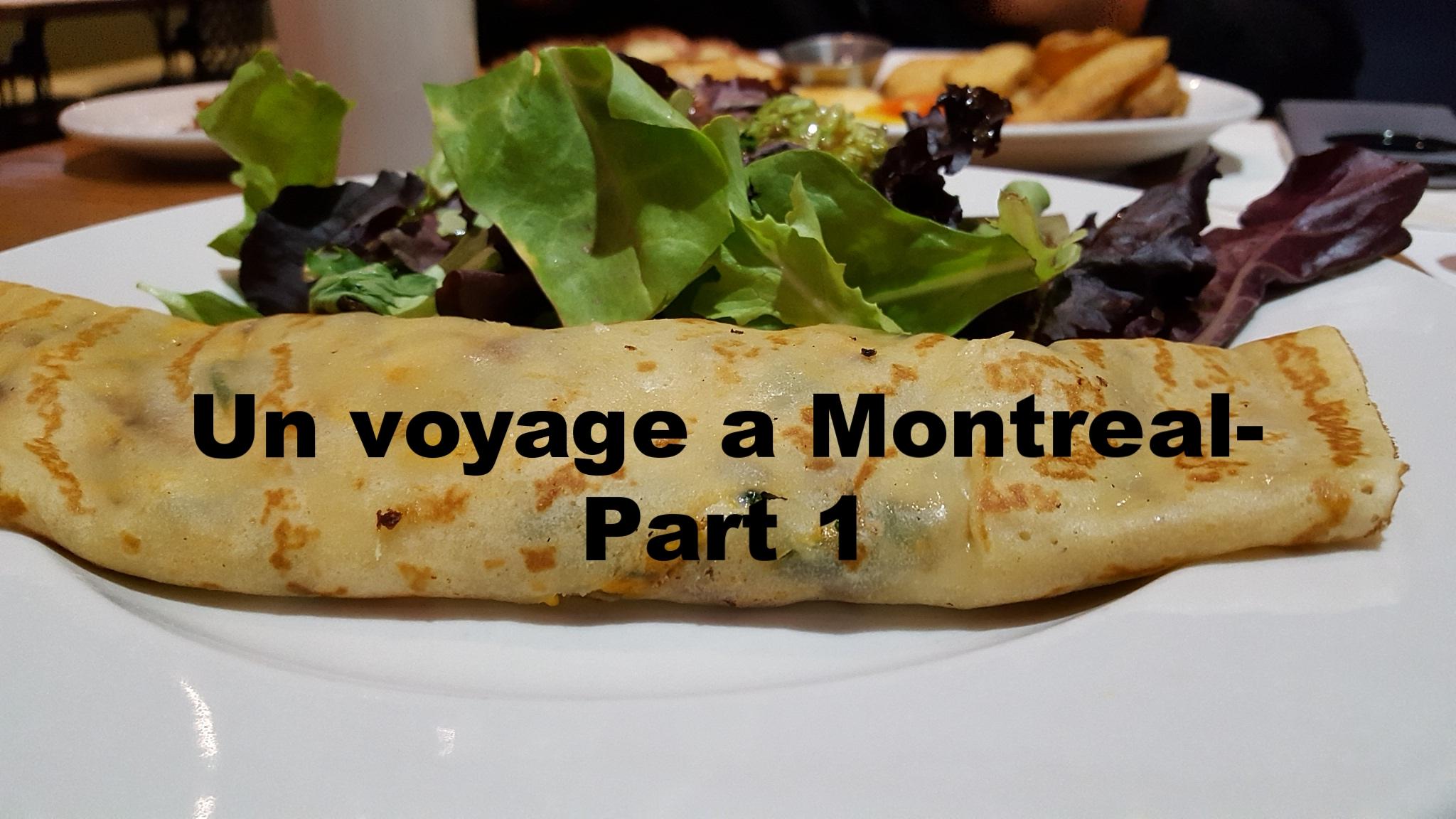 Montreal Diaries- Part 1