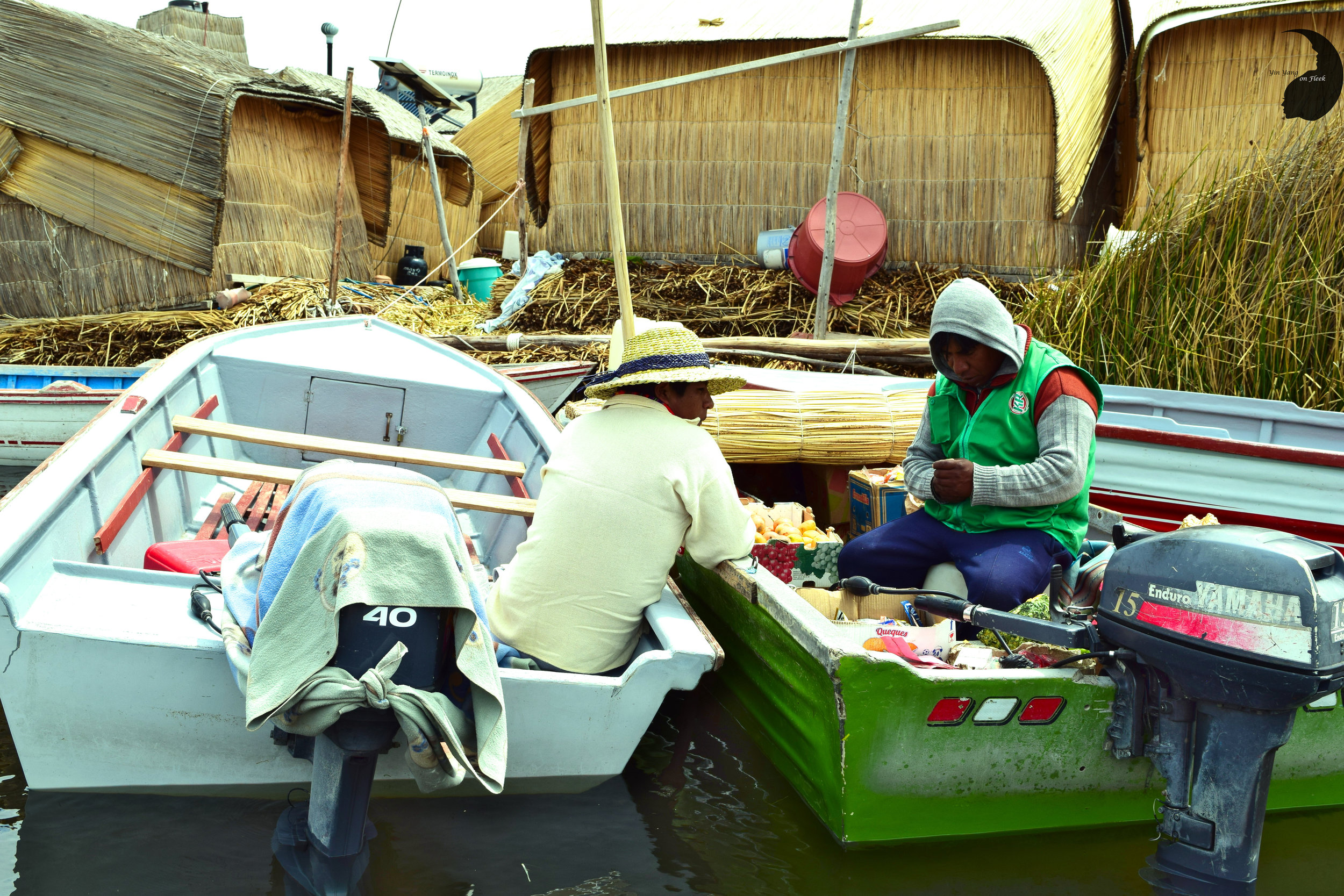 Floating island of Uros