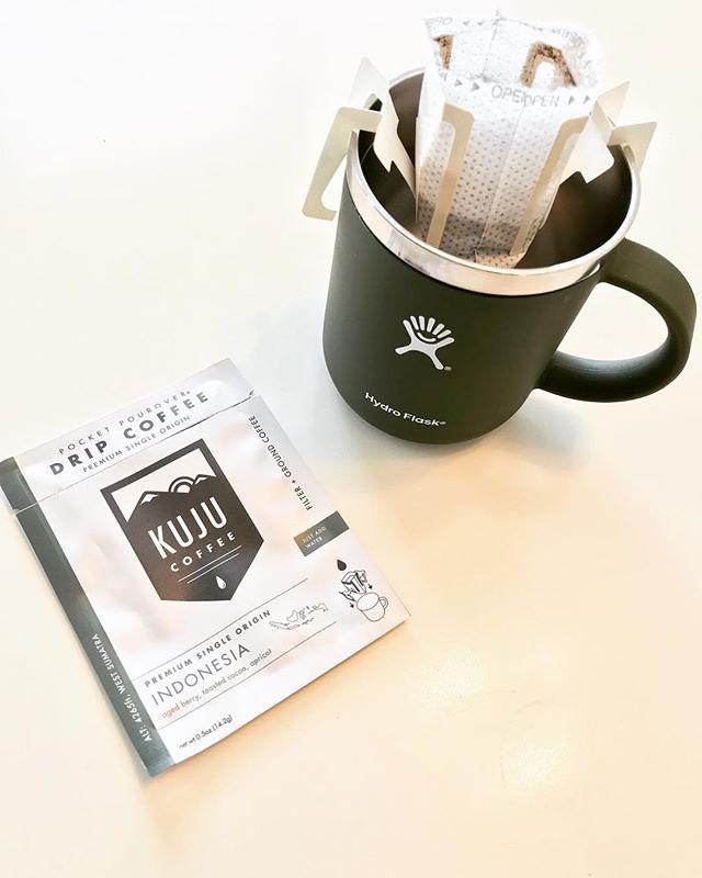 Powering through hump day! ☕️ 🏔 😎 @kujucoffee  @hydroflask