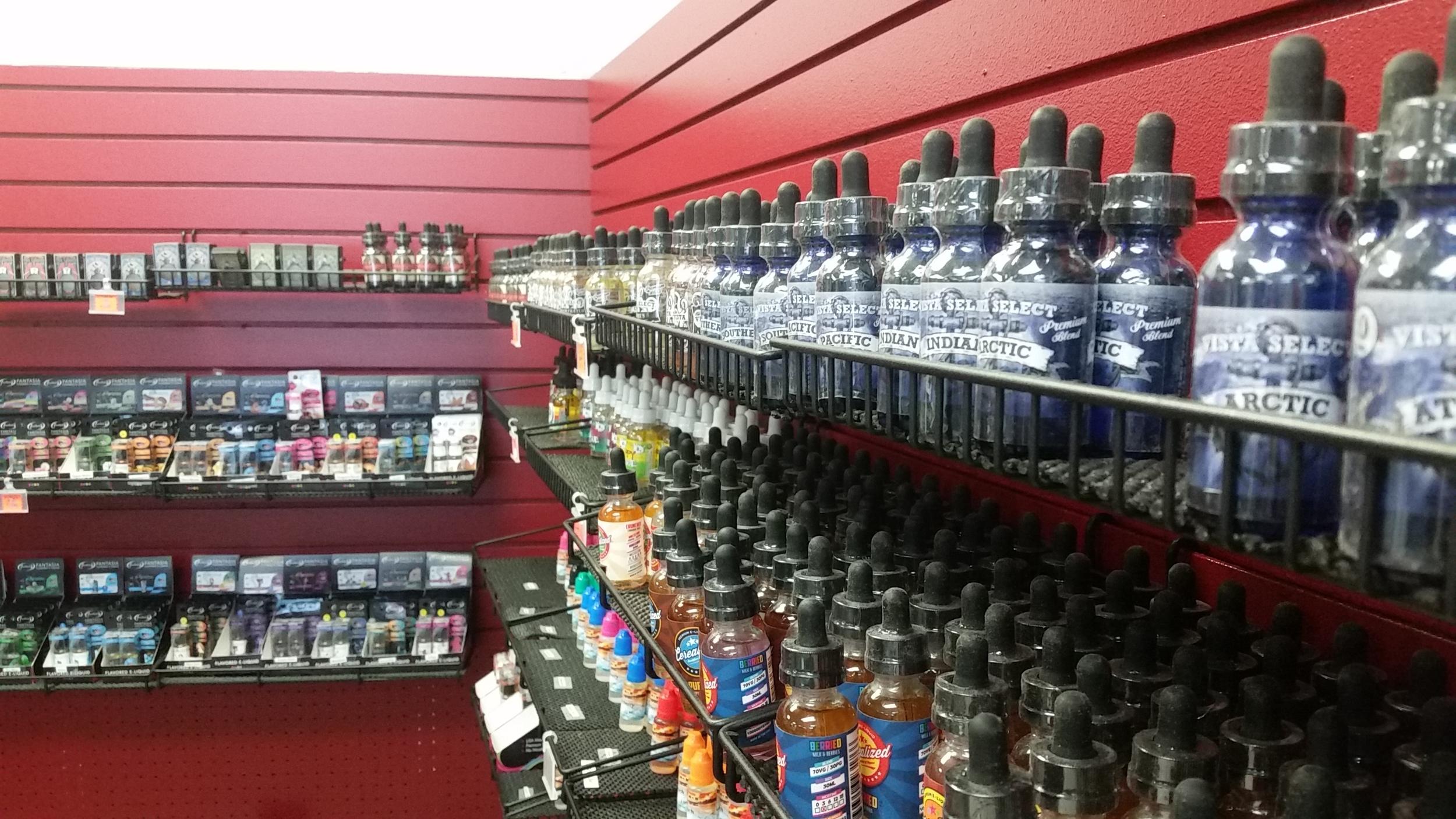 So many e-liquids...