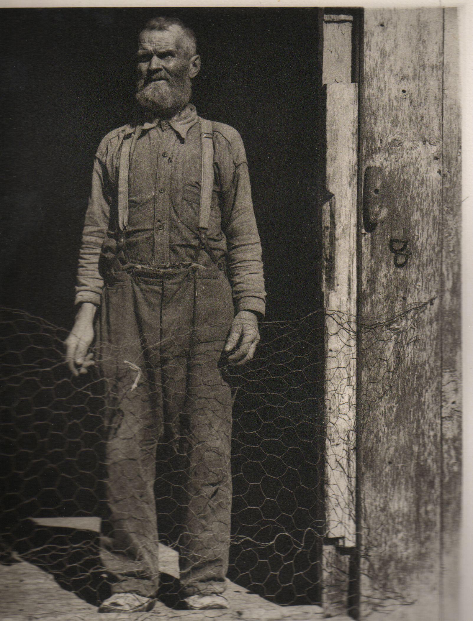 Paul Strand:  Fisherman, Gaspe. Photogravure.