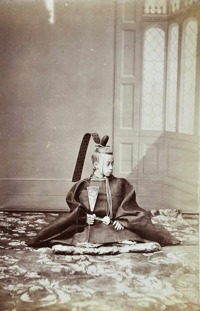 André-Adolphe-Eugène DISDÉRI  (1819-1889): Portrait of TOKUGAWA Akitake (1853-1910), Paris, 1867. Albumen print from wet collodion negative.