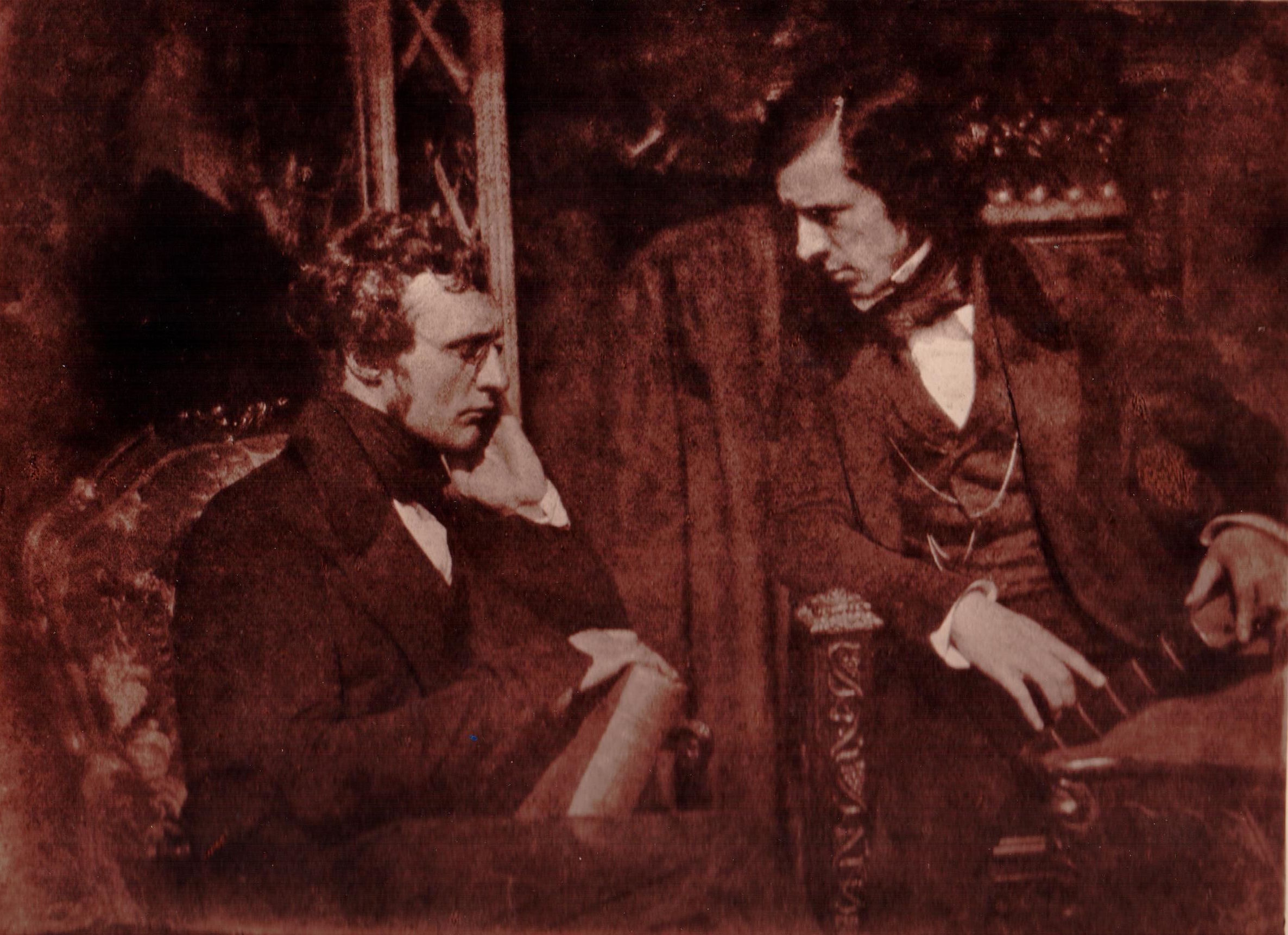 Dr Samuel Brown and the Rev George Gilfillan, by Hill and Adamson, Carbon Print by Annan Studio from the original Hill and Adamson negative, c 1890. Courtesy London Photograph Fair 4 March 2018