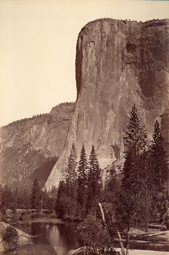 El Capitan, c. 1870, Albumen on paper