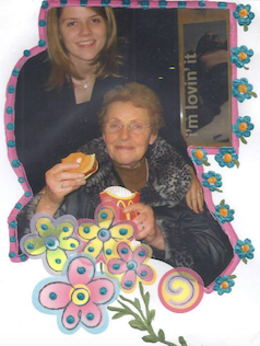 A special trip with Oma when I was a teenager AND her 1st hamburger... no joke!