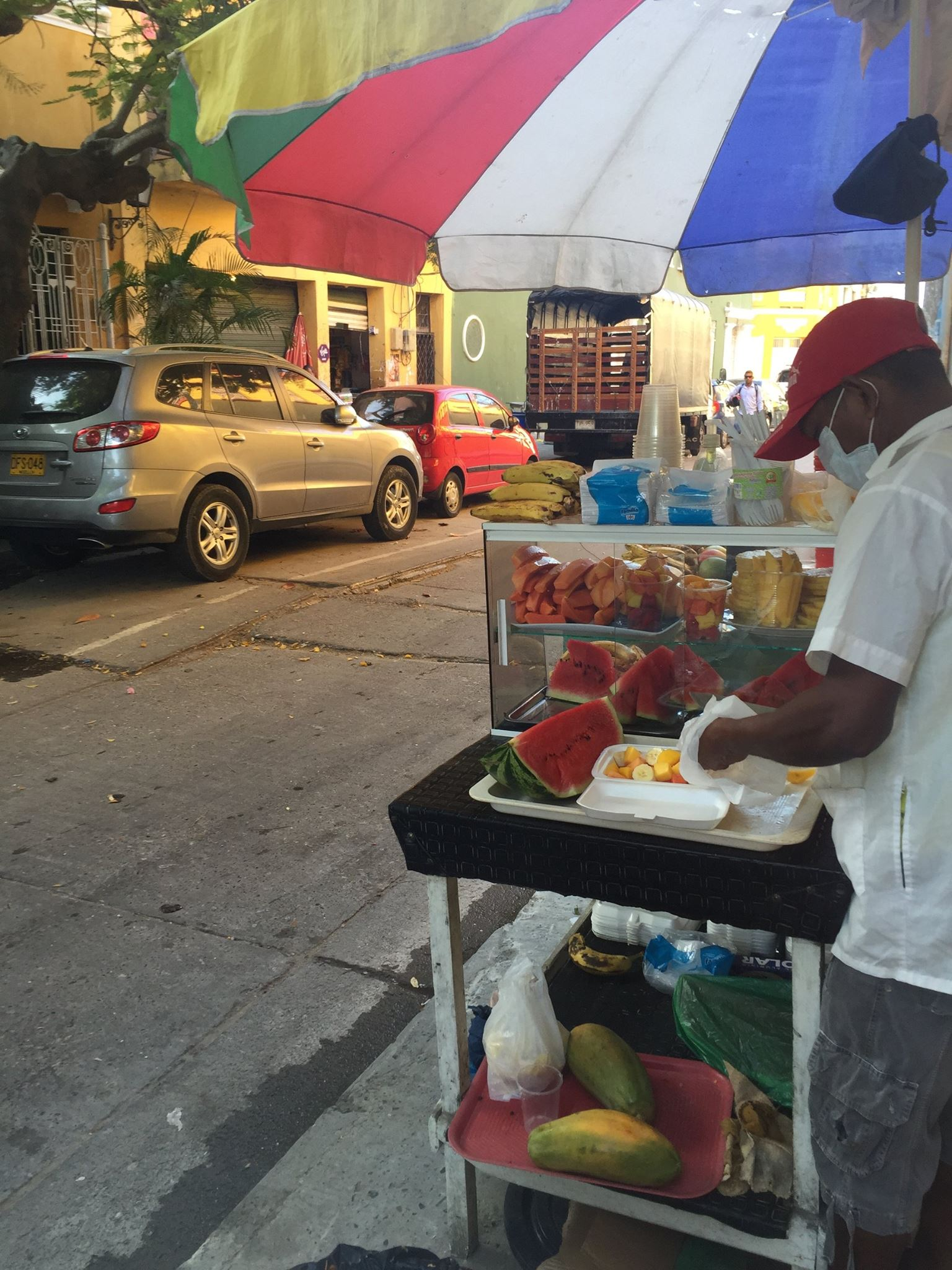 A daily treat - fresh fruit for under $1.