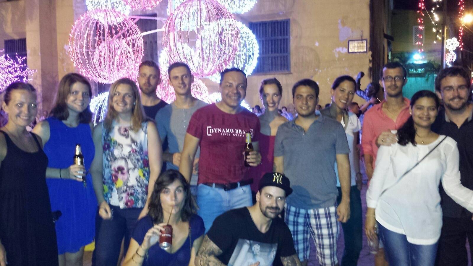 Our December 2015 Nueva Lengua group at Plaza de la Trinidad.