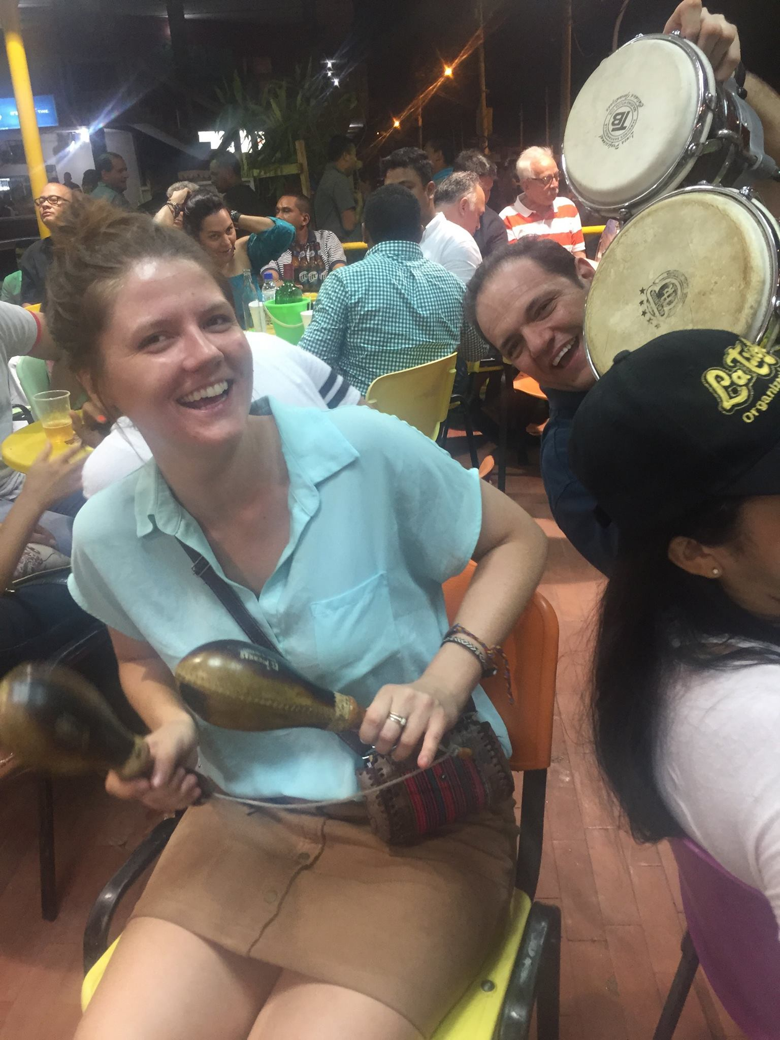 The neighbors brought their own drums - such a fun night!