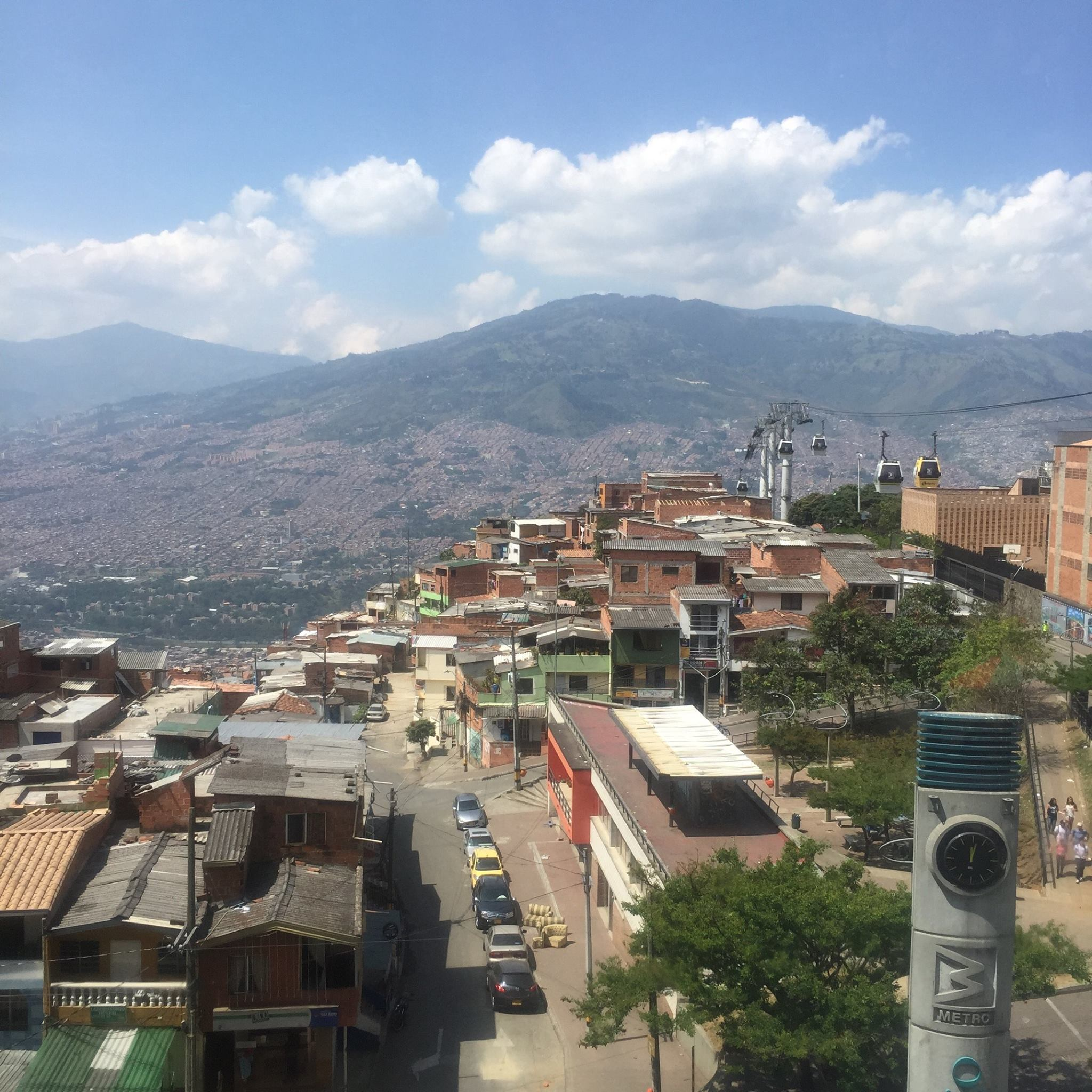 The view from the cable car (teleférico) on the way to Parque Arví (more below).
