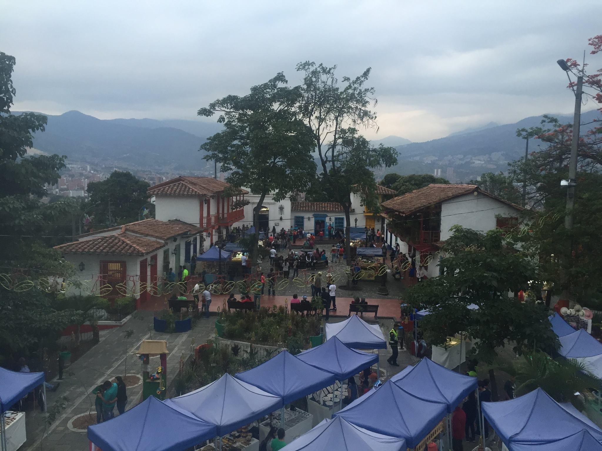 Pueblito Paisa from above.