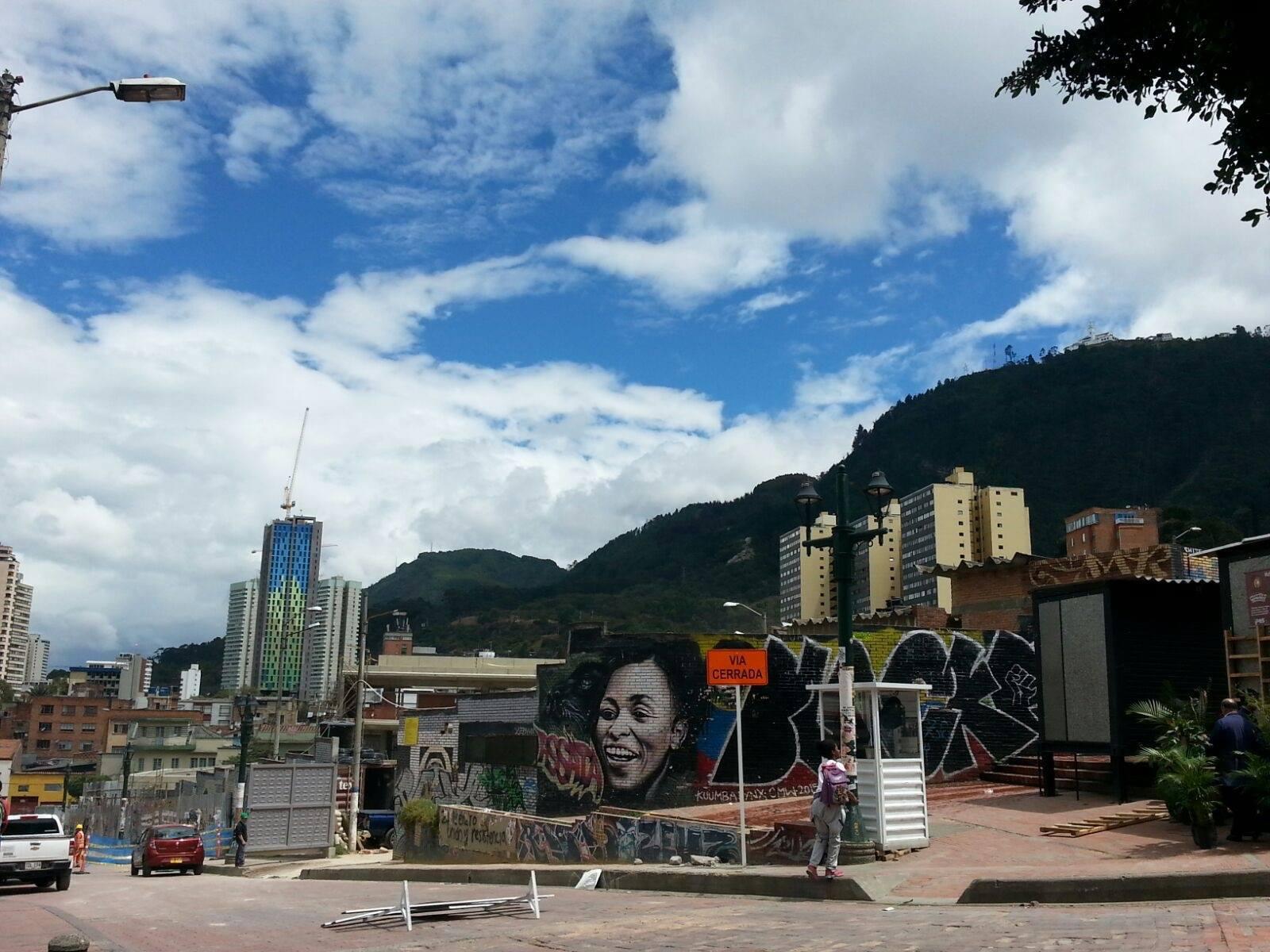 Central Bogotá (the edge of la Candelaria).