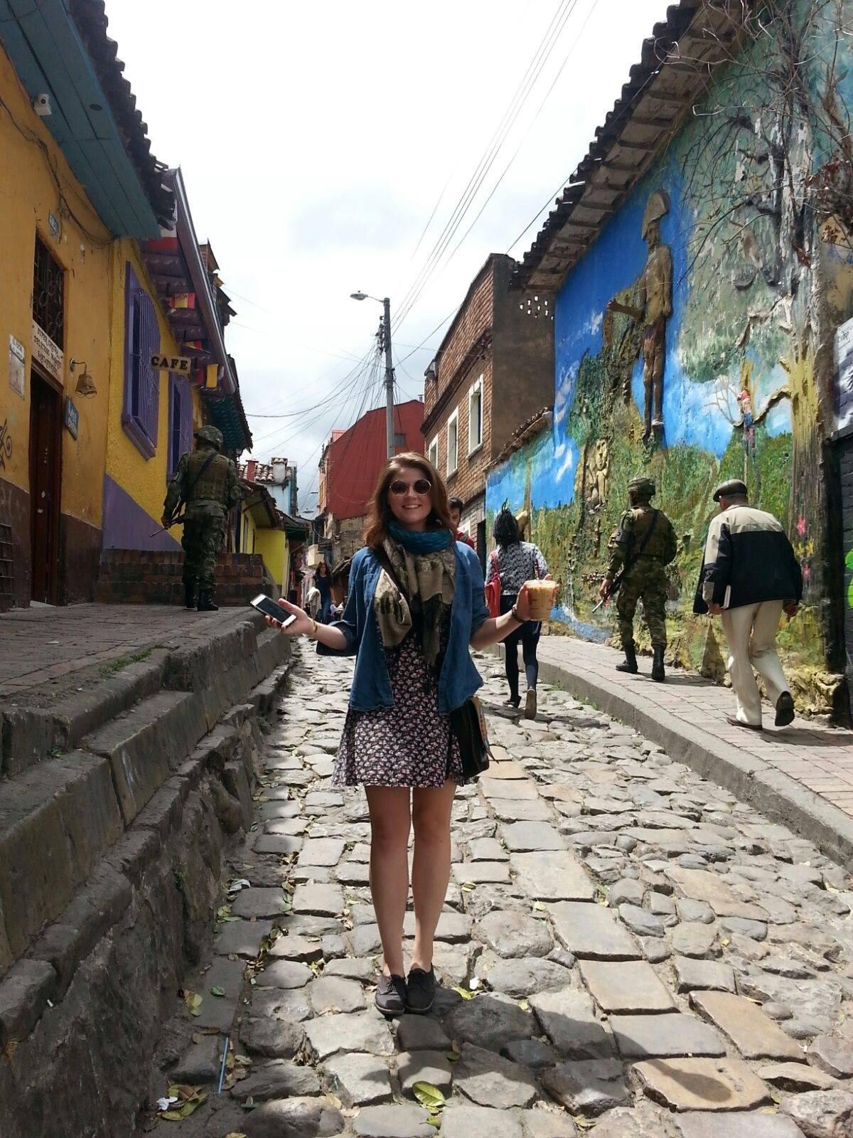 Exploring la Candelaria, Juan Valdez coffee in hand!