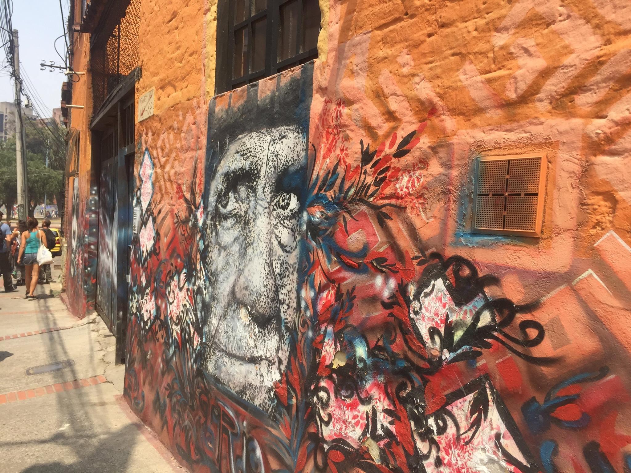 Unreal graffiti in the Colombian capital.
