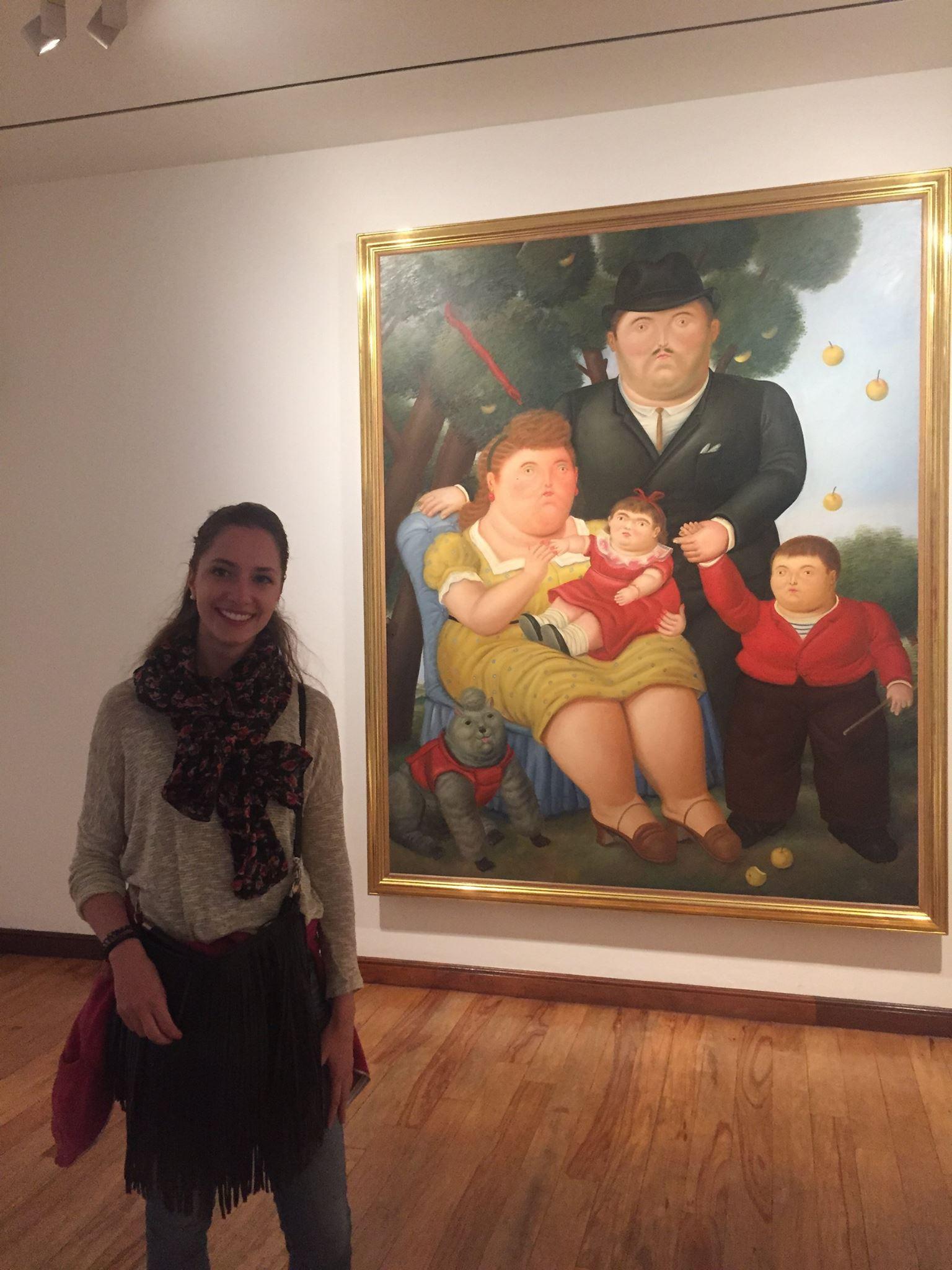 Monika & a Botero work of art.