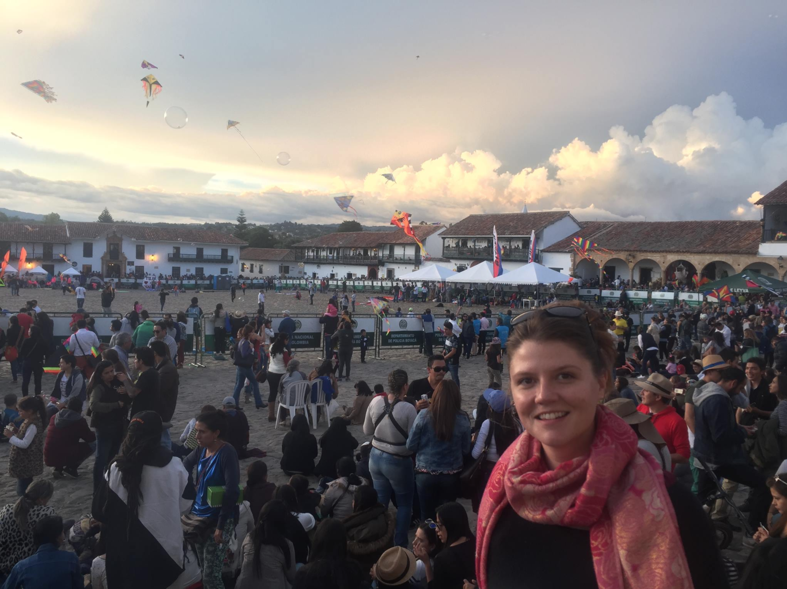 The main square in Villa de Leyva, Colombia (the weekend of the kite fest).