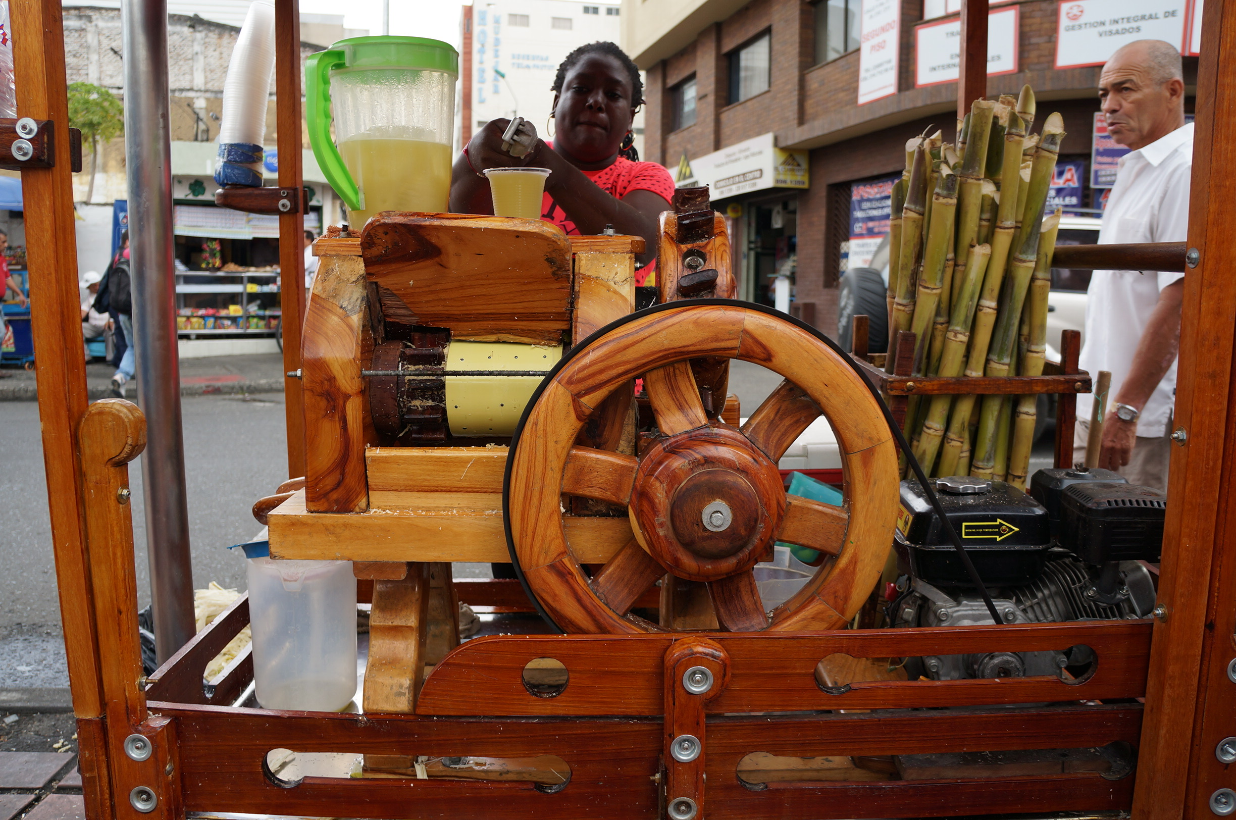 Freshly-made guarapo, or sugar cane juice ~ delicious!