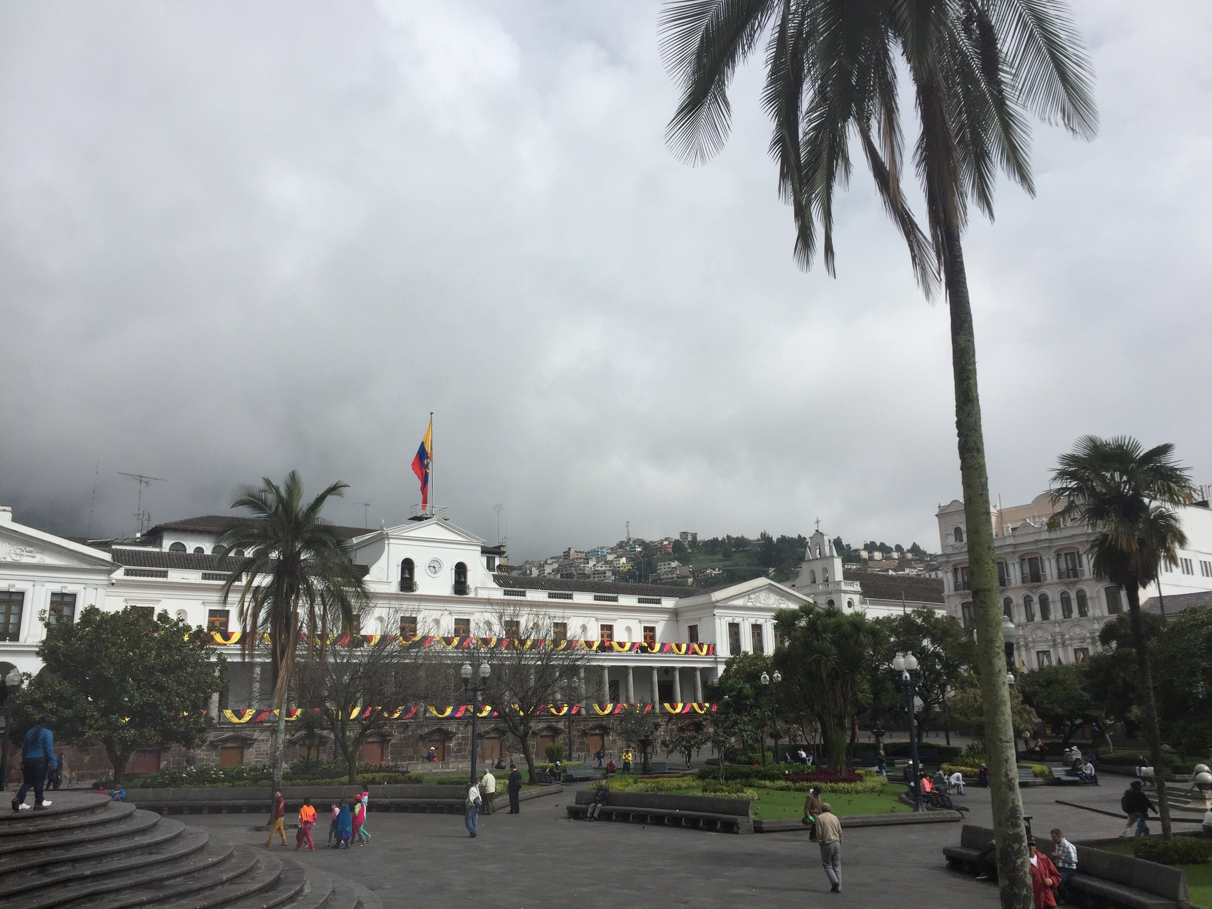 Presidential Palace at the Plaza de la Independencia.