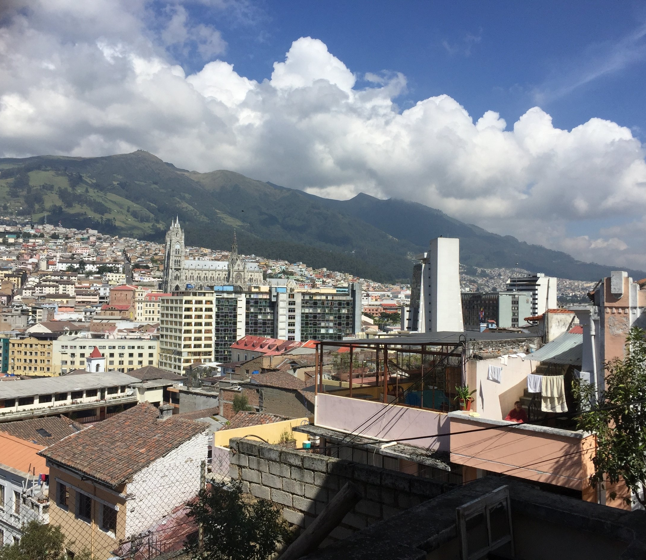 A limited view of expansive Quito.
