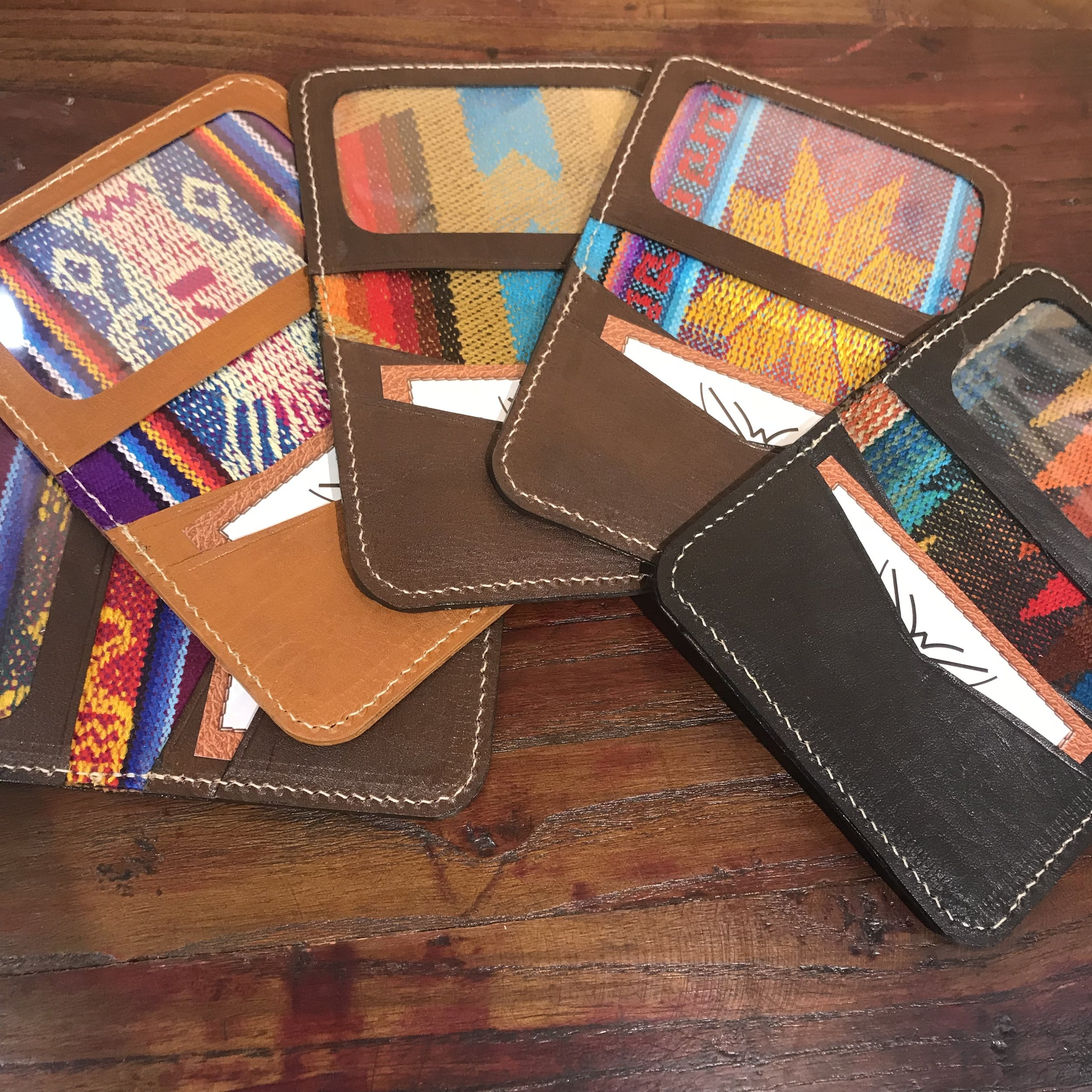 Our SLIM wallets are brand new &  it's been awesome to see your reaction to them at markets .  Catch them in person NOW & keep checking the website to purchase there!