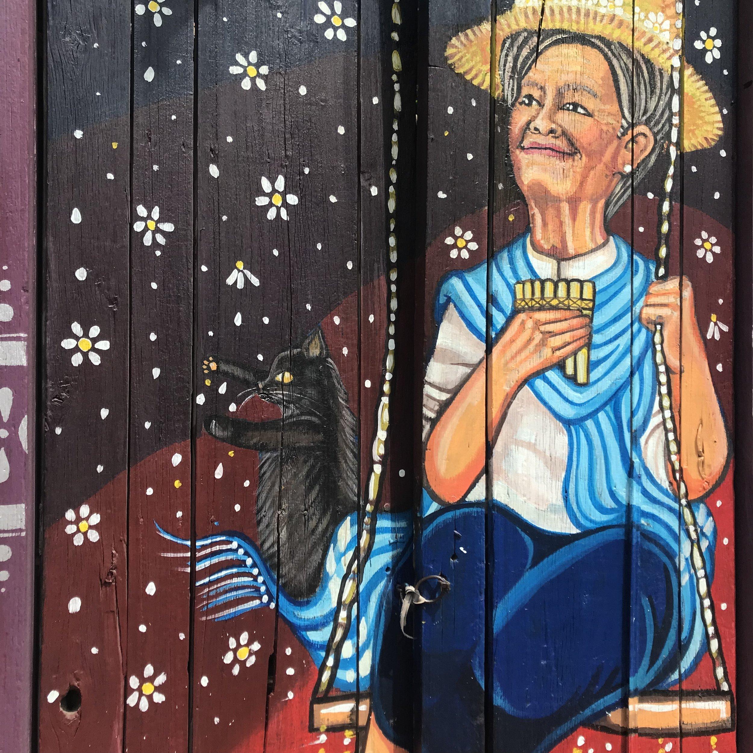 Beautiful Ecuadorian street art.