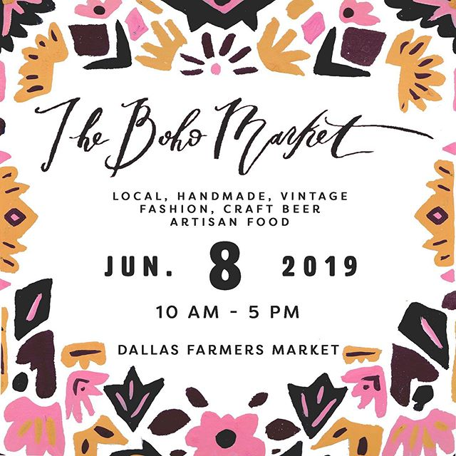 💕🌻☕️ One of the BEST markets in DALLAS - TOMORROW! @thebohomarket ✅ #VerverWerks #wieldyoursoul _____________________________________________________________ #dallasmarket #visitdallas #dallasfarmersmarket #mybohovibes #shopsmall #curatedmarket #latteart #funweekend #mimosa #curatedgifts #roseallday #summervibes #happy #leathergoods #mystyle