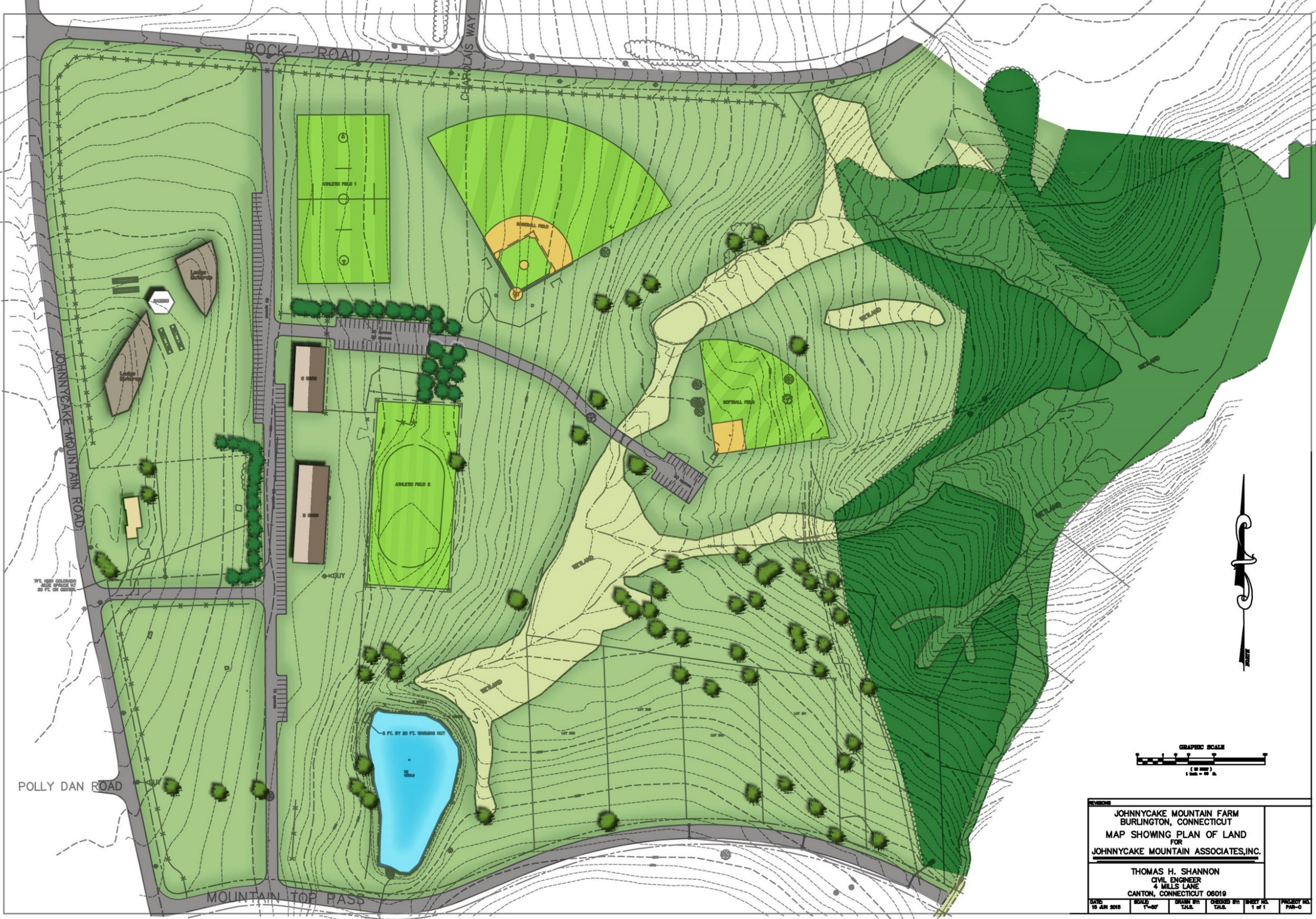 The preliminary design of the 58 acre parcel