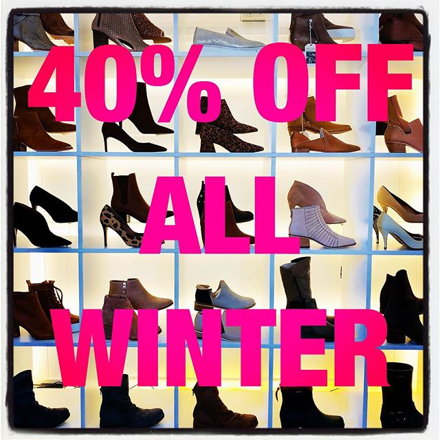 40% off all winter stock with further reductions in store #miloandmacyshoes #shoes #shoestagram #shoesoftheday #sale #winter #loveasale #hurryup #bequick #beautiful #gorgeous #stylish #chic #fashion #brisbane #brisbanesale #brisbaneboutique #boutiqueshopping #ascot #4007 #supportsmallbusiness #everythingonsale_shoes