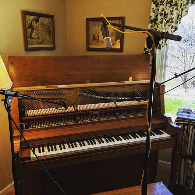 So... Are we doing this right? #piano #localmusic #newalbum #discoverermusic #diyrecording #micparts #onsiterecording