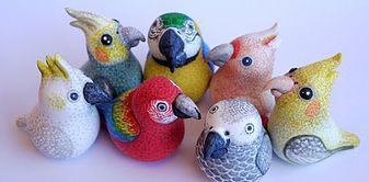 Silverpasta creates some of the cutest parrot (and other animal) figurines we have EVER seen! Tell them you discovered their store here and 20% from each sale will be donated to CTPR!! Visit https://www.etsy.com/shop/Silverpasta  today and let them know we sent you.