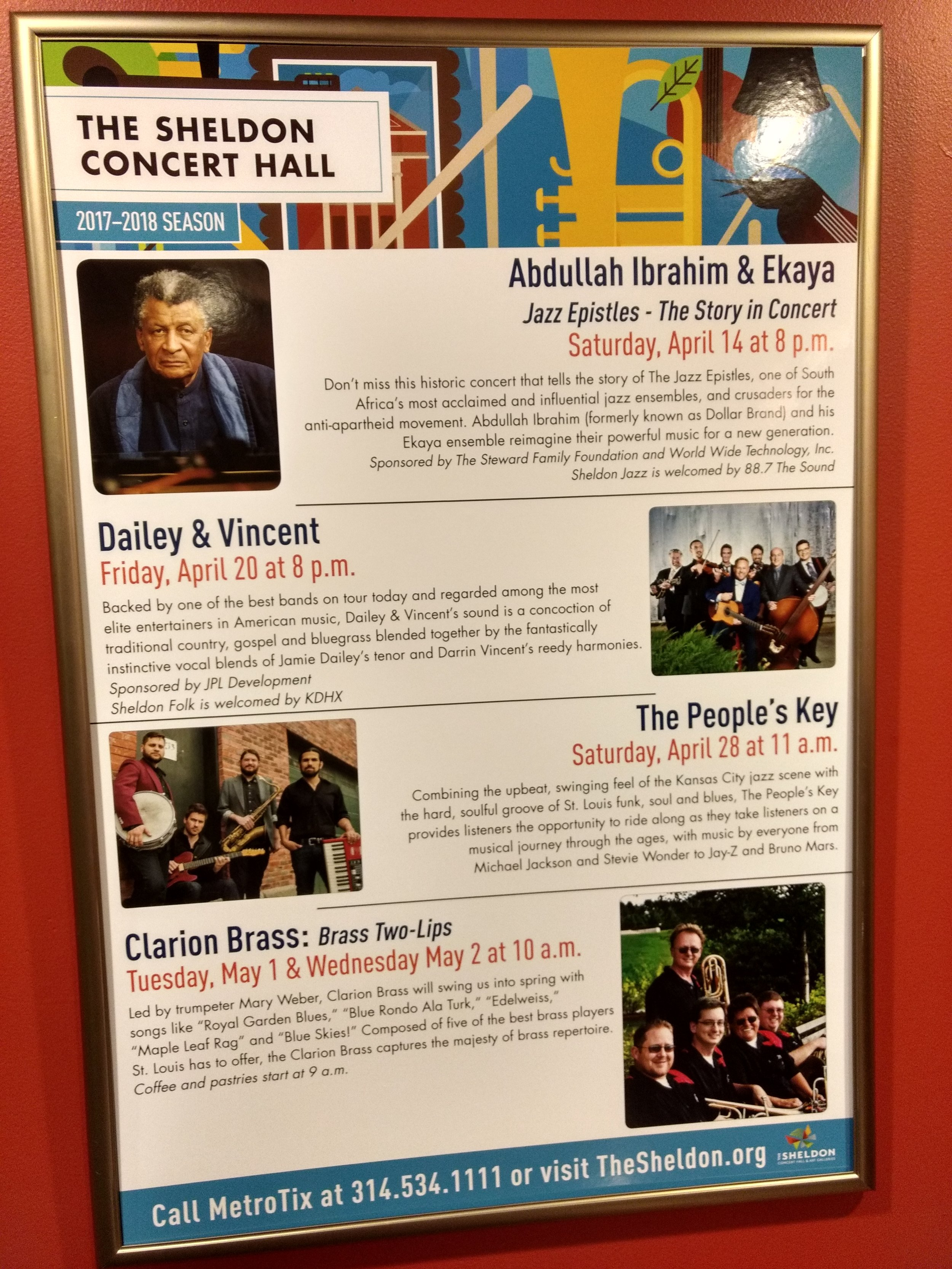 Another Cool tidbit about the experience is that right next to Ramsey's poster was a poster with The People's Key on it for our concert on 4/28. Exciting to know I'll be playing on the same stage he rocked!