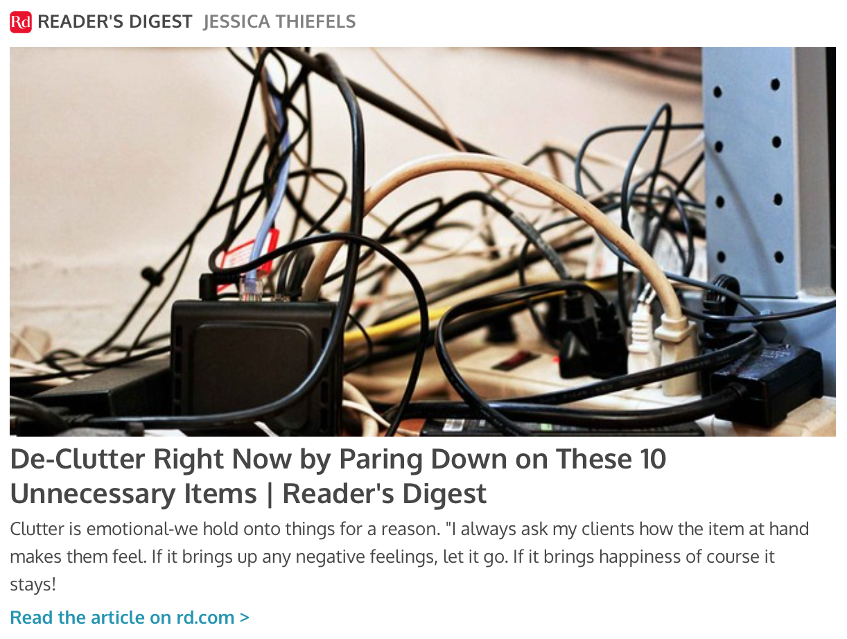Reader's Digest - click on the photo to the left to read our article in Reader's Digest