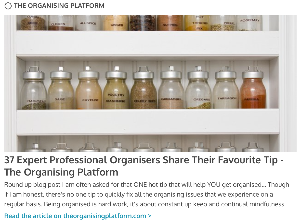 The Organizing Platform - click on the photo to the left to read our article on theorganisingplatform.com