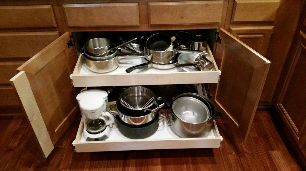 Gallery California Roll Out Shelves, Sliding Drawers Kitchen Cabinets