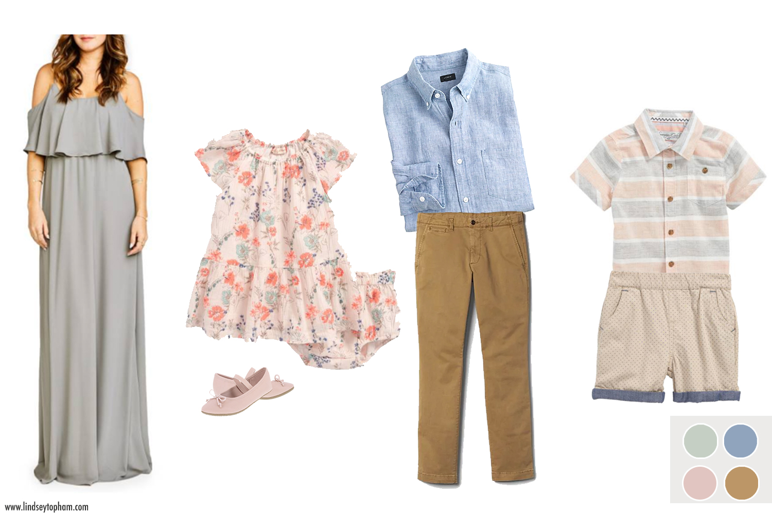 women's dress  |  girl's dress  |  girl's shoes  |  men's pant  |  men's shirt  |  boy's shirt  |  boy's short