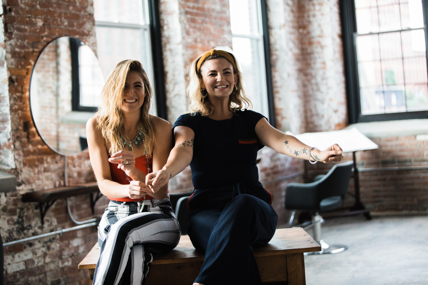 Owners of The Plan, Chelsea Falcetti (left) and Tiffany Duchesne (right) recently opened a sustainable salon in Holyoke, Massachusetts, which is on track to be one of the greenest cities in the country.