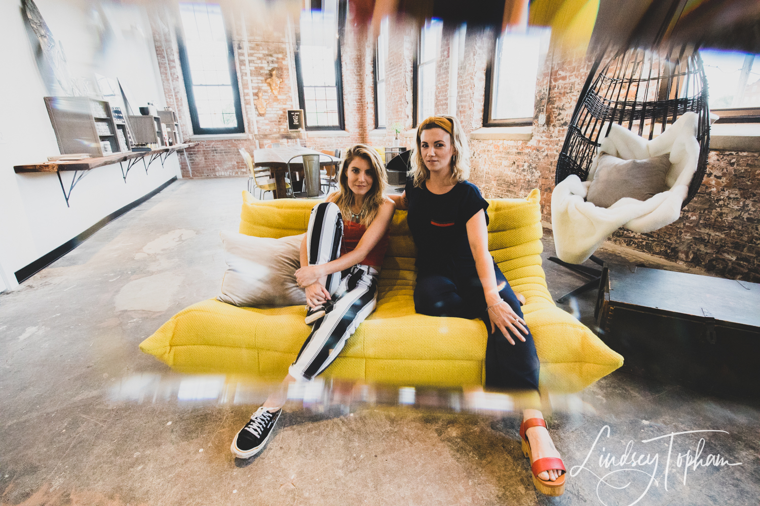 Chelsea Falcetti (left) and Tiffany Duchesne (right), owners of The Plan, a sustainable salon Holyoke, Massachusetts.