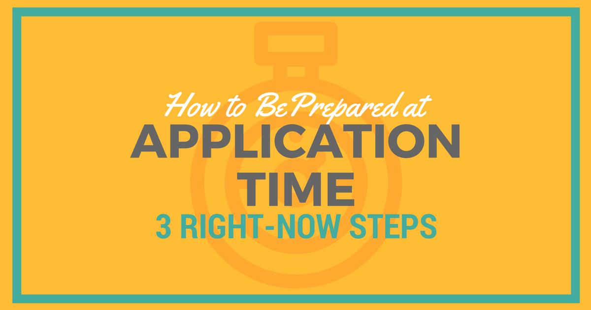 CASPA application pre-steps