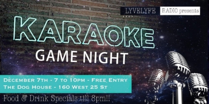 KARAOKE at the DOG HOUSE! HOWL if you're in! Come on by.....