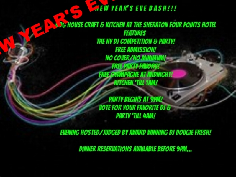 DJ COMPETITION RUNS DECEMBER 22, 23, 29 & 30...WITH FINAL PERFORMANCES ON NEW YEAR'S EVE, 12/31 @ 9PM. COMPETITION FEATURES ABOUT 20 UP AND COMING NY DJ'S. MC/JUDGES are: MANNY RIOZ, ADAM SMITH, ROB GEE, and award winning DJ DOUGIE FRESH! There is never a cover or minimum to attend any of the competition days and dance the night away! Dinner reservations strongly suggested by calling 212-337-8301!