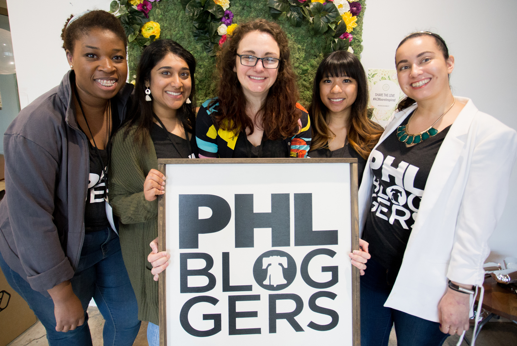 The Blog Connect 2018 Team (left to right) Annsley from thatsreallypretty, Priyanka from  Paint the Town Chic , Chrystina from  Chrystina Noel , Melissa from  Skinny Affair , and Sarah from  Shades of Sarah . || Photo by  Tim Becker Photography