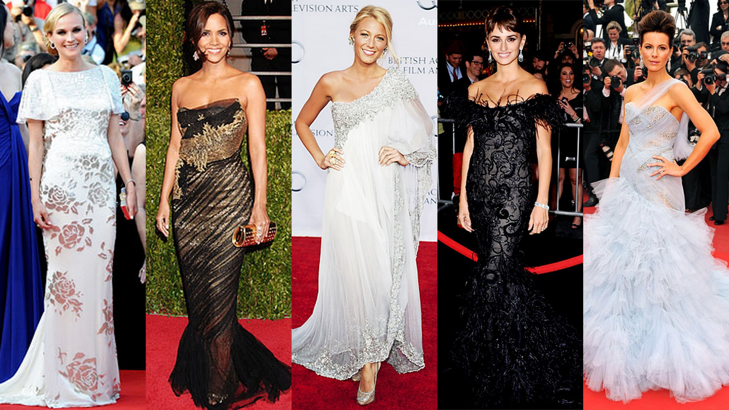 From left to right: Diane Kruger, Halle Berry, Blake Lively, Penelope Cruz and Kate Beckinsale
