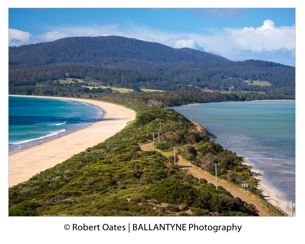The Lookout over the neck provides panoramic views over North and South Bruny Island