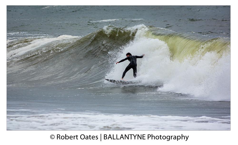 Surfer on the Outer Break
