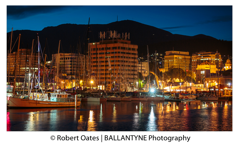 Franklin Marina and Hobart CBD look over the New year Fireworks