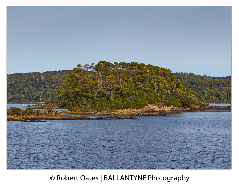 Sarah Island today. IN the penal settlement days there were no trees, the island was totally exposed top the elements
