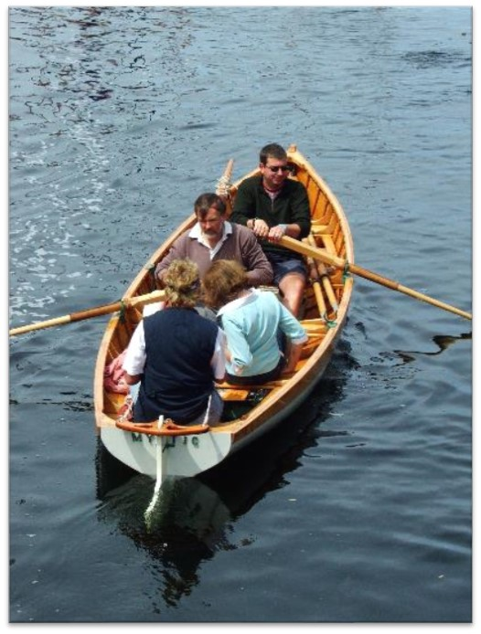 Examples of putting space forward of the boat showing you where it is going, allowing the viewer to see this creates the sense of movement. Above: Having the rowing boat on a slight angle across the image adds more information about the boat for the viewer. Below: Even though this image has been taken from side on, by lifting the bow a little higher than the stern, it gives the sail boat a little more forward momentum to the viewer. Images Courtesy of the Australian Wooden Boat Festival ©